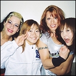 Allison Danger and April Hunter pal around with their Japanese hosts.