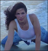 Allison Danger getting all sexy during her Jersey Shore photo shoot.