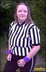 Referee Katie Kincaid.